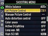 Nikon D7000 settings: Shooting menu / Set Picture Control - digital-photography.com