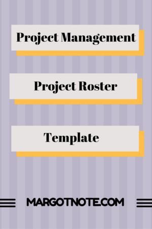 Project Management Project Roster Template  Project Management