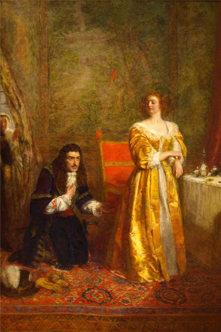 """""""Charles II and Lady Castlemaine"""", 1899 by William Powell Frith (British 1819-1909)"""