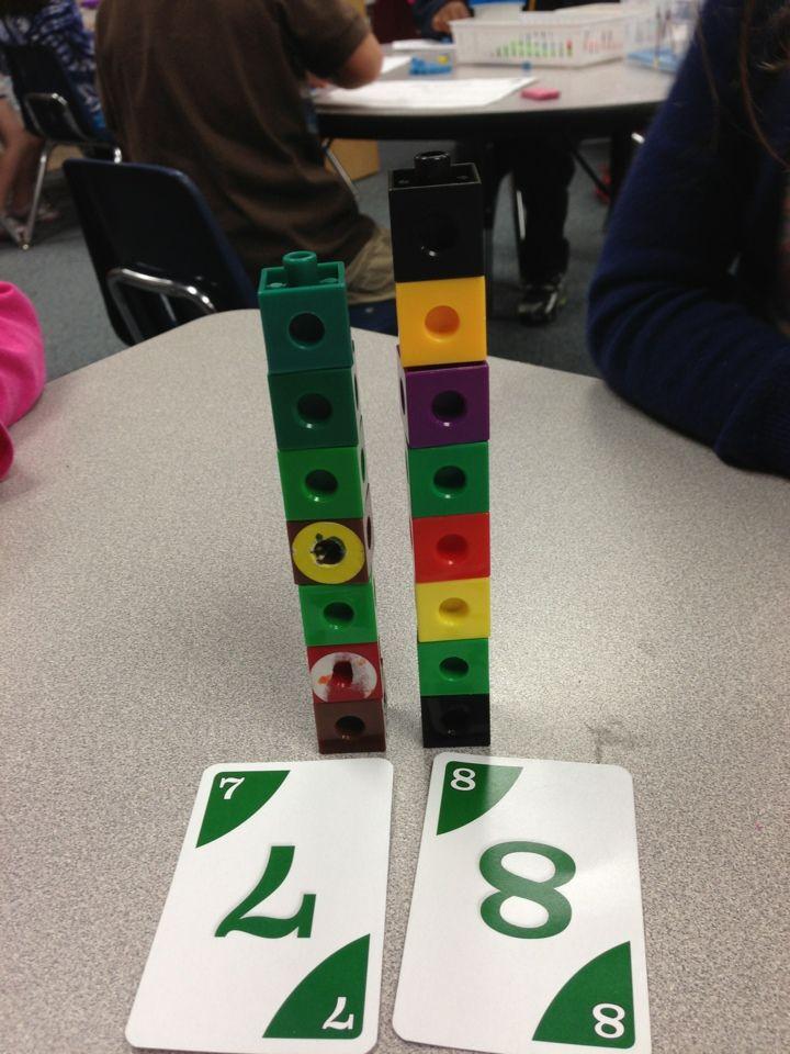 Activités de numération et dénombrement - multicubes