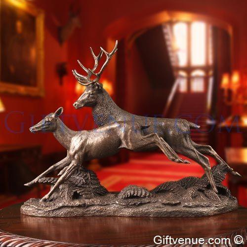 Genesis running deer sculpture