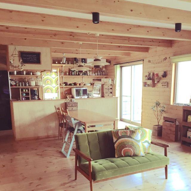 DIY/BESSの家/ソファ/カリモク60/リビングのインテリア実例 - 2015-03-12 14:59:16   RoomClip(ルームクリップ)