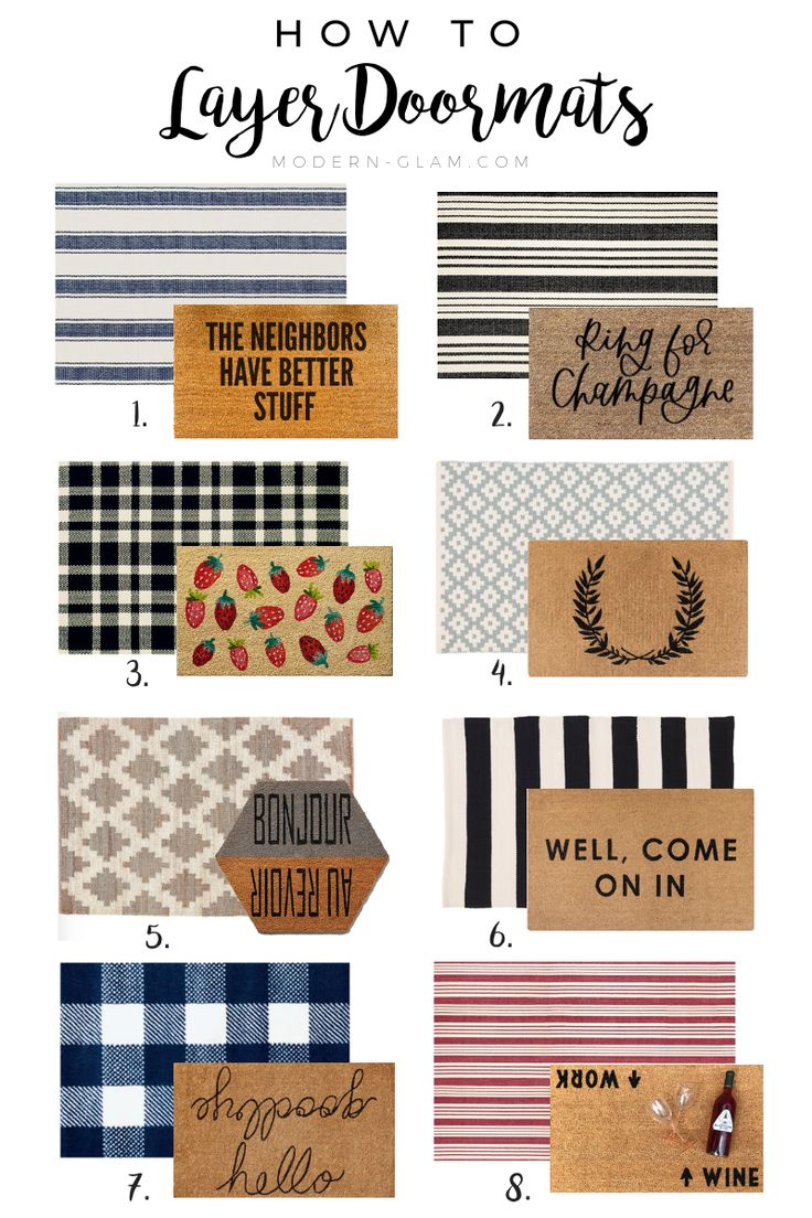 Doormat Layering Guide – Modern Glam – Interiors