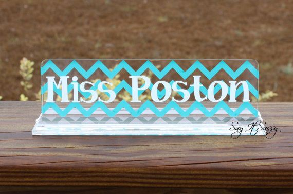 Personalized Desk Name Plate  Great Teacher Gift  by SayItSassy, $13.95