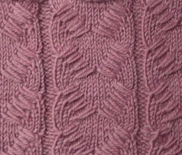 Узор из вытянутых петель - Узоры и схемы спицами