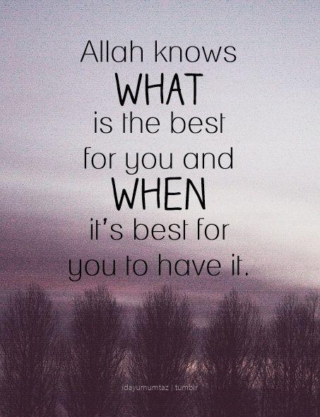 apa & kapan yg terbaik untuk kita