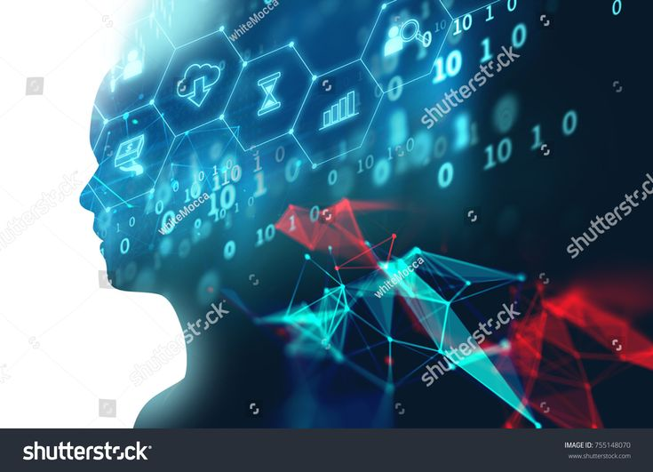 double exposure image of virtual human 3dillustration on programming and learning technology background represent learning process.rr #Ad , #Sponsor…
