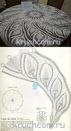 Вязаная скатерть с ананасами | Вязание крючком, схемы вязания, бесплатное вязание крючком