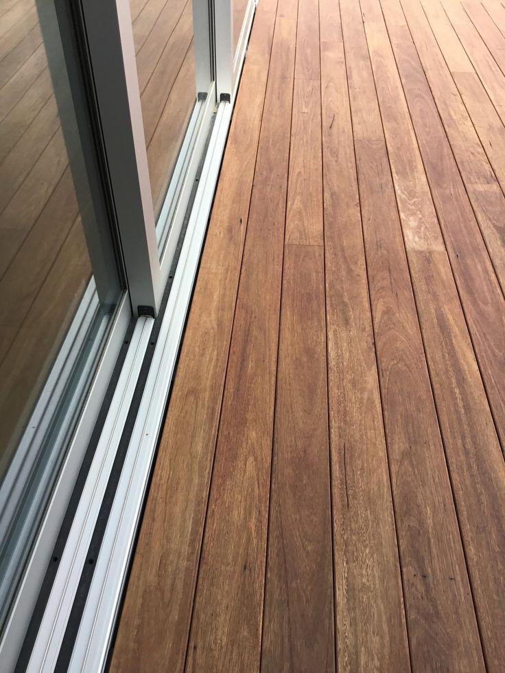 ShadowDeck Blackbutt decking 130x19  Show how the ShadowDeck 12mm House2Deck spacer look next to the joinery.