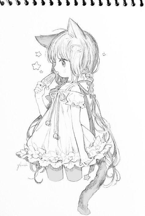 Niedliches Manga Mädchen mit Eis in der Hand | Manga ... - photo#37