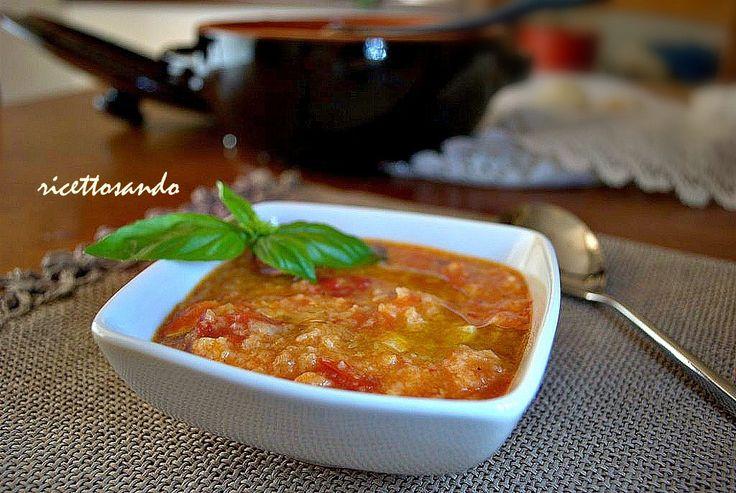 Pappa col pomodoro toscana. #ricetta di @luisellablog