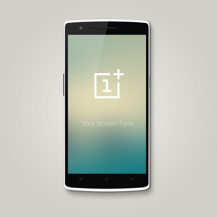 OnePlus One Mockup designed by Maurice Gebwein