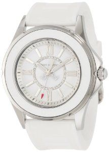 Juicy Couture Women's 1900871 Rich Girl White Jelly Strap Watch