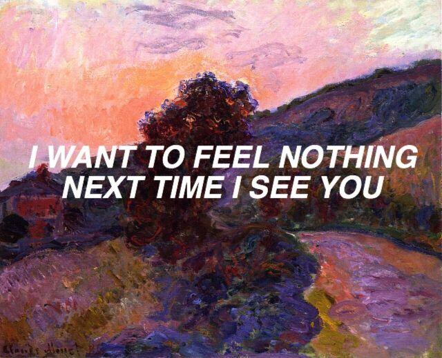 ayocay:  vikhau:  Monet #35 // i want to feel nothing  Amen   I