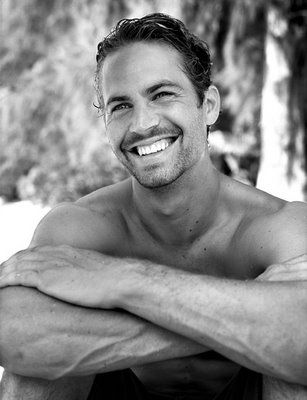 Paul Walker. ... no clue but I love that smile and the black and white.. all around great portrait! :)