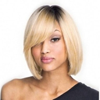 Capless Mix-Color(Gray&Blonde) Side Bang Short Straight Synthetic Hair Wigs 3268960 2016 – $12.88