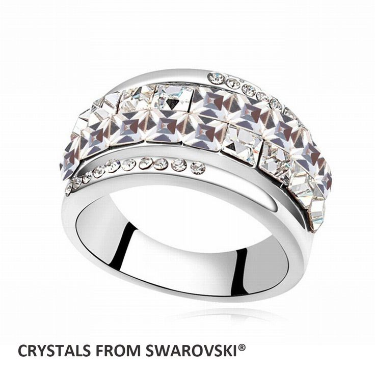 Goedkope Super koop dubbele lijn 5 kleuren ronde crystal trouwringen vinger ring met kristallen uit swarovski kerstmisgift, koop Kwaliteit ringen rechtstreeks van Leveranciers van China:     alle bestellingen wordengratis verzending. het verschepen methode is afhankelijk van bestelling hoeveelh