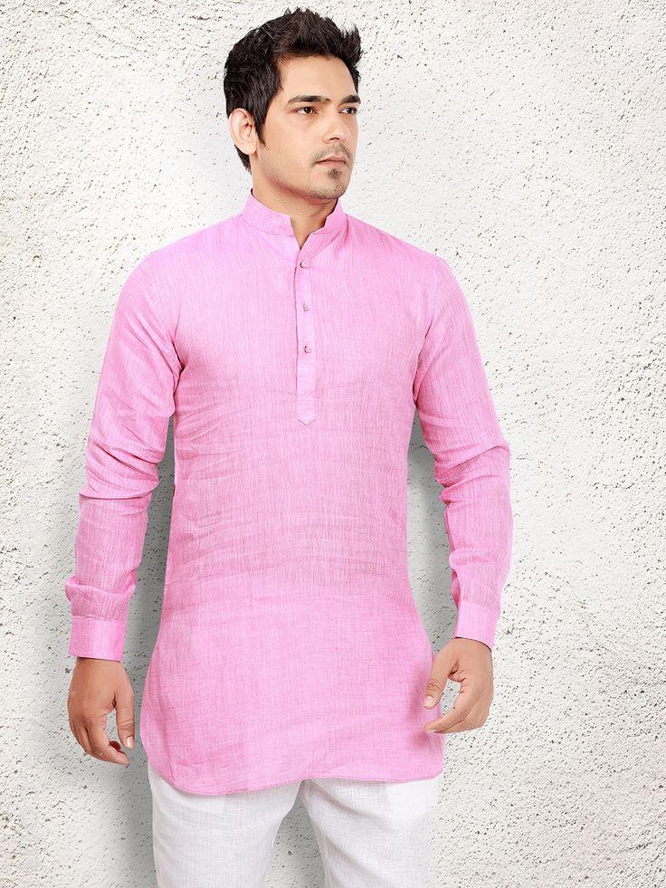 Cotton Peach Short Pathani