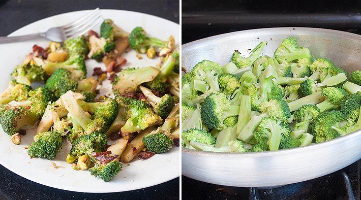Low Carb Rezept für leckeren gebratenen Brokkoli mit Speck. Wenig Kohlenhydrate und einfach zum Nachkochen. Super für Diät/zum Abnehmen.