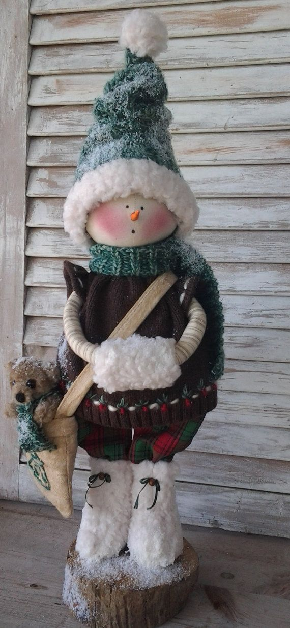 Primitive Pattern Primitive Christmas Snow Girl by CCCPrimitives