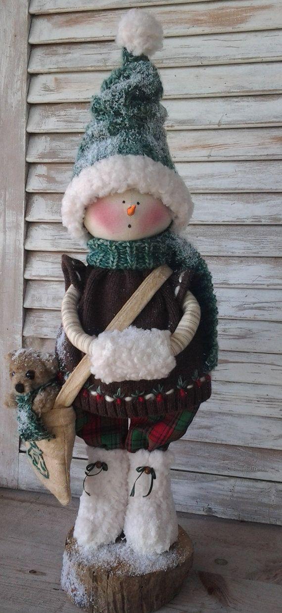 Primitive Pattern Primitive Christmas Snow Girl por CCCPrimitives