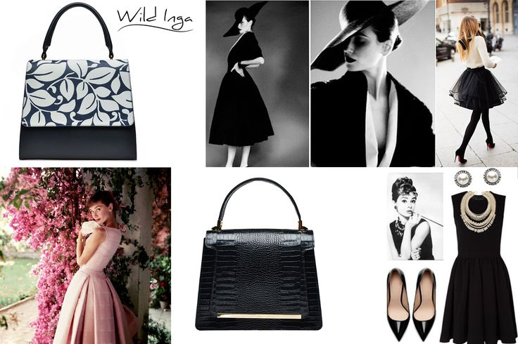 Black leather bags with croco effect or elegant prints from Wild Inga