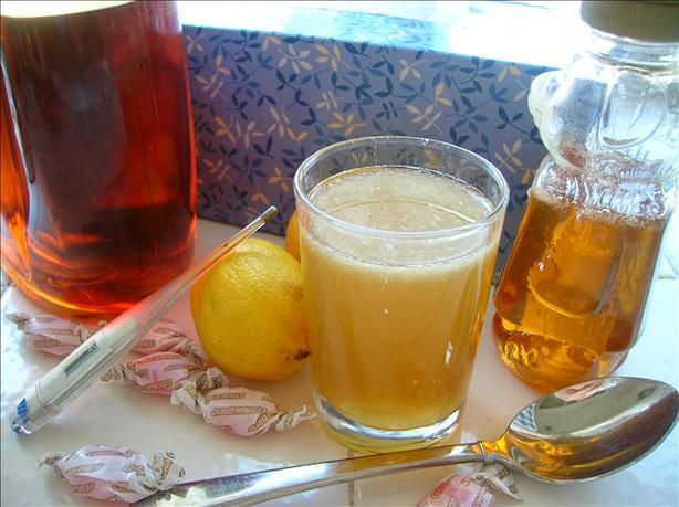 Cold, Cough, Hot shot remedy from Food.com:   								This is a 50 year old family recipe. I like it because it can be used in several different ways. Plus it contains vitamin C!