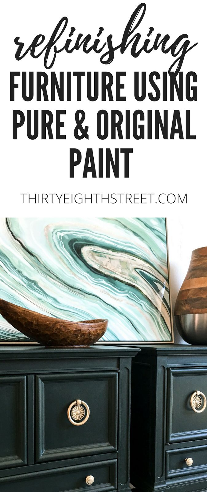 Painting Furniture With Pure & Original Paint. So many pretty paint colors to choose from! | Thirty Eighth Street