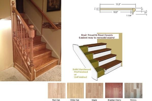 Here At One Step Beyond Shop We Sell Replacement Stair Parts Wood | Prefinished Hickory Stair Treads And Risers | Stair Parts | Hickory Natural | Stairtek | Natural Prefinished | Oak Stair Nosing