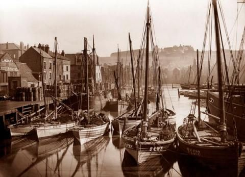 Whitby harbour, late 19th century