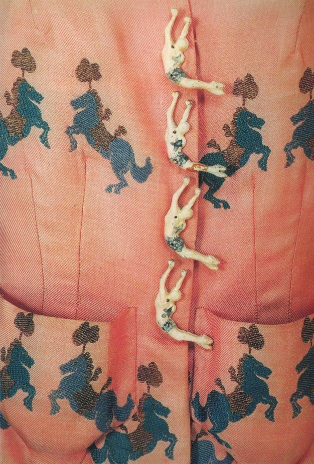 30s botones de bailarinas de Elsa Schiaparelli