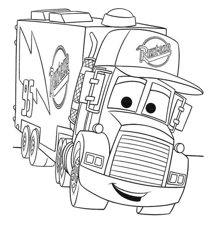 A Truck For Keeping Mc Queen Disney Cars Coloring Pages