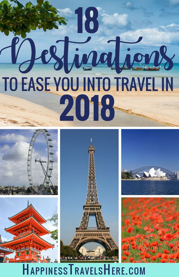 Where to go for a first time or family traveller? Travel Bloggers reveal their top 18 destinations to ease you into travel in 2018. There stress free destinations are perfect for first time travellers as those travelling with kids or a baby #travelinspiration