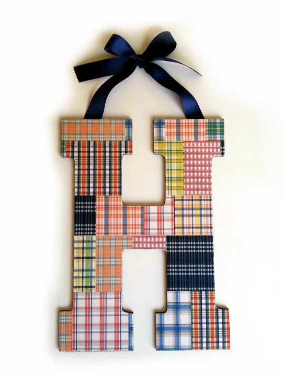 Pottery Barn Madras Boutique Wooden Letters on Etsy, $20.00