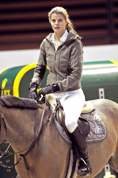 Athina Onassis Roussel her husband Doda training at the International Gucci Masters Competition in Villepinte.