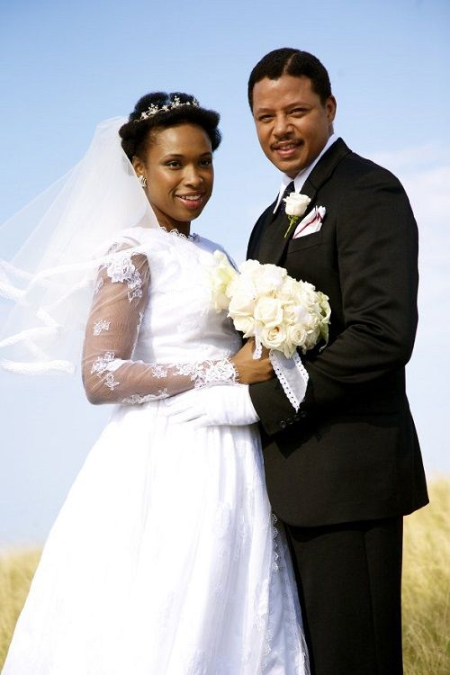 Terrence Howard As Nelson Mandela In A Still With Jennifer Hudson Winnie From The Movie