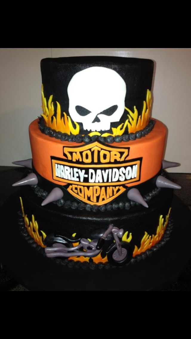 58 Best Cakes Harley Davidson Images On Pinterest