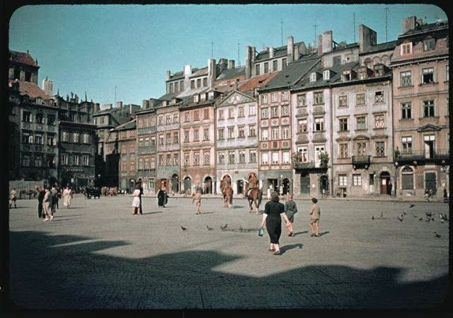 vintage everyday: Warsaw in Color Photographs in 1938-39