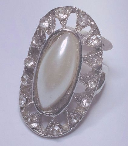 Studded Pearl Ring