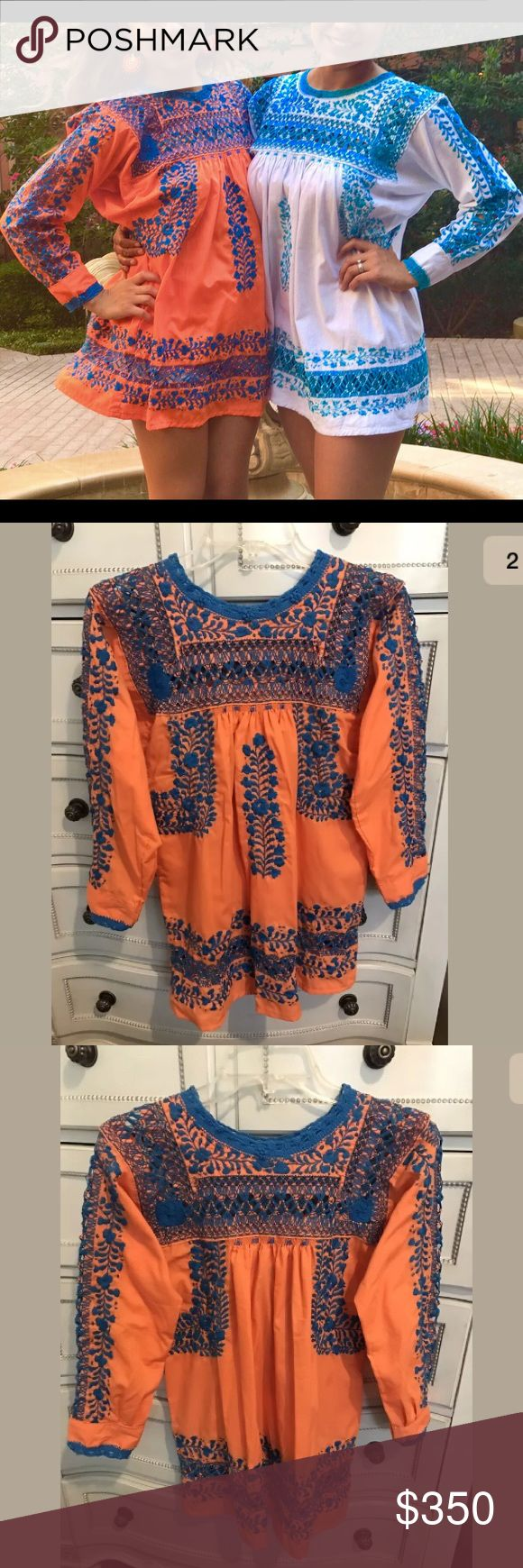 Mexican Blouse Mexican Embroidered Blouse made in Mexico. Tops Blouses