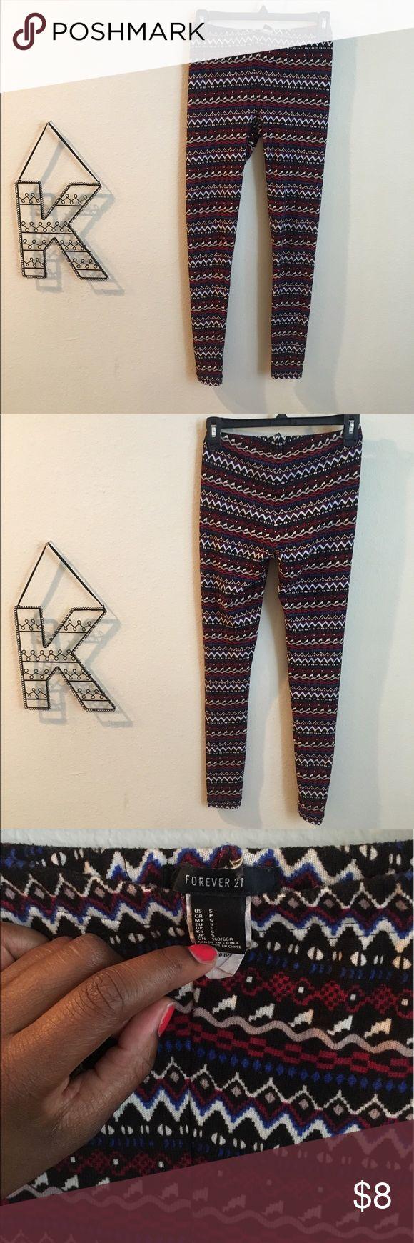 Forever 21 tribal print leggings Tribal print leggings, Forever 21, size small, multiple colors Forever 21 Pants Leggings