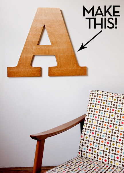 How to make #DIY ombre-stained wooden typographic wall art!