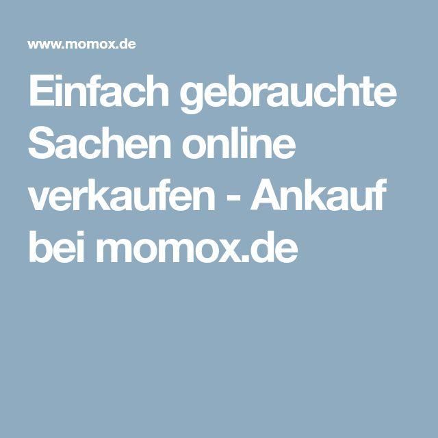 Einfach gebrauchte Sachen online verkaufen - Ankauf bei momox.de