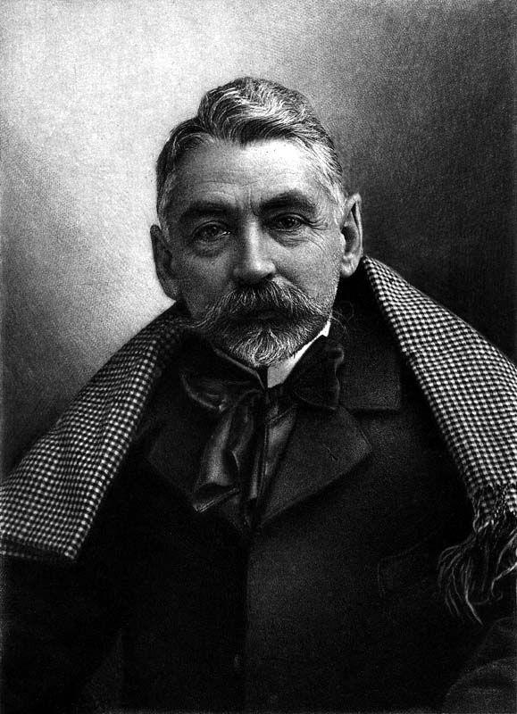 Felix Nadar's photograph of Stephane  Mallarme, 1896. (http://www.laboiteverte.fr/en/portraits-de-gens-celebres-par-felix-nadar/#) Lorsque Julie Manet devient orpheline à 16 ans Mallarmé la prendra sous son aile.