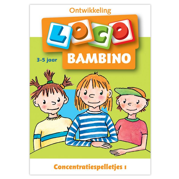 Bambino Loco betekent uren lang speel plezier voor uw peuter of kleuter. Het is een uniek speel systeem waar kinderen dol op zijn. Ze kunnen zelf controleren of ze de opdrachten goed hebben gedaan. Zo ontwikkelen ze zich spelenderwijs. Geschikt vanaf 2 jaar.Afmeting: 14,5 x 21 cm - Bambino Loco - Concentratiespelletjes (3-5)