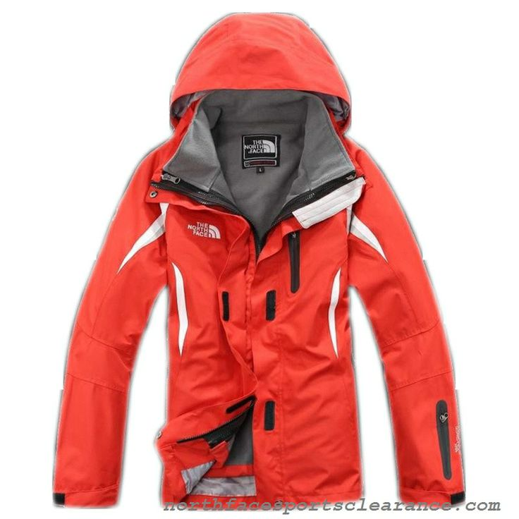 The North Face Womens Windstopper Jacket University Red White
