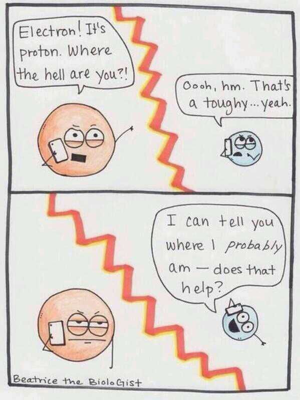 You know you've spent too much time on chemistry when you think this is funny...
