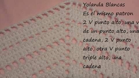 Como tejer capa crochet
