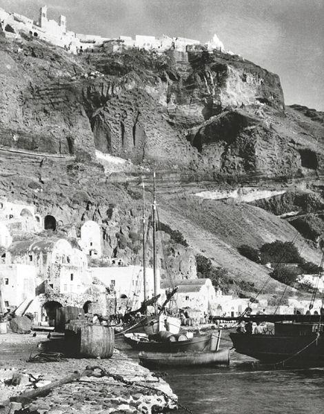 The old port of Fira.  Oia, Santorini Island, Greece www.oiamansion.com