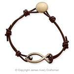 The Leather Fishers of Men Bracelet #jamesavery